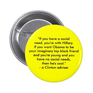Hillary vs. Obama 6 Cm Round Badge