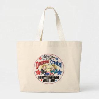 Hillary VS Trump Spitball Politics Jumbo Tote Bag