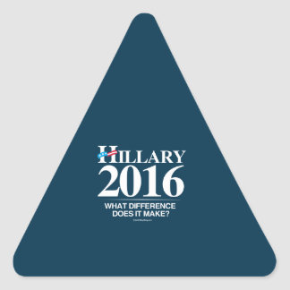 Hillary - What difference does it make Triangle Sticker