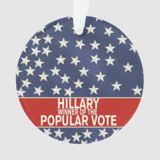 Hillary, winner of the popular vote!
