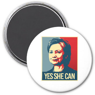 hillary - yes she can - -  magnet