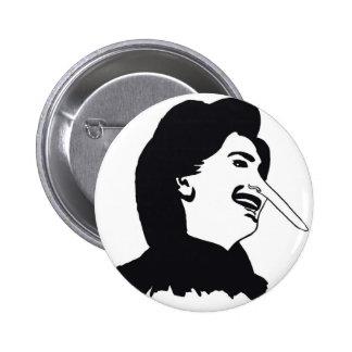 Hillaryocchio Pinback Button