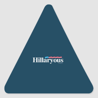 Hillaryous - Anti Hillary Triangle Stickers