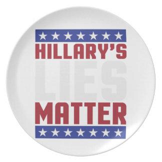 Hillary's Lies Matter Plate