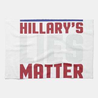 Hillary's Lies Matter Tea Towel