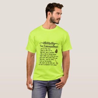Hillbilly 10 commandments T-Shirt