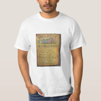 Hillbilly Comandments T-shirt