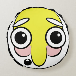 Hillbilly Face Round Cushion