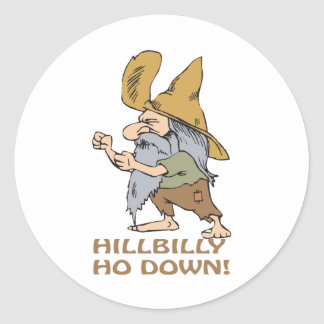 HillBilly Ho Down Classic Round Sticker