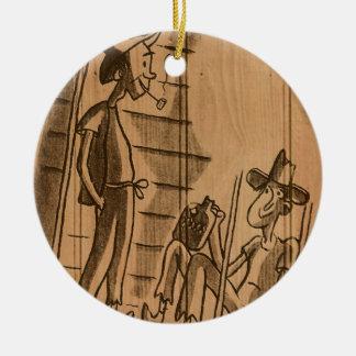 hillbilly home ceramic ornament