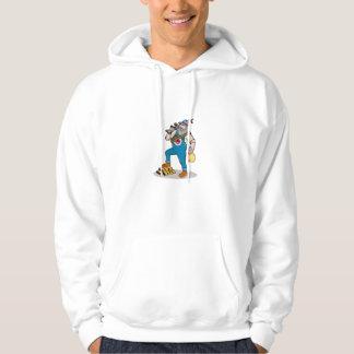 Hillbilly Man Rifle Gold Bars Money Bag Cartoon Hooded Sweatshirts