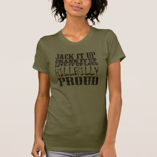 Hillbilly Proud Square Country Block Text Tee Shirt