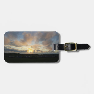 Hillend Campsite Sunset Luggage Tag