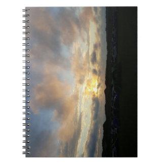 Hillend Campsite Sunset Notebook