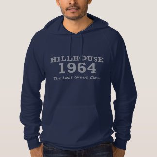 Hillhouse '64 navy blue hoodie with hand-warmer
