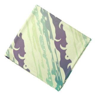 Hills Above the Clouds Landscape - yellow-green Bandana