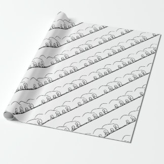 Hills and  grazing wrapping paper