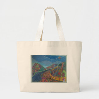 Hills and happiness canvas bags
