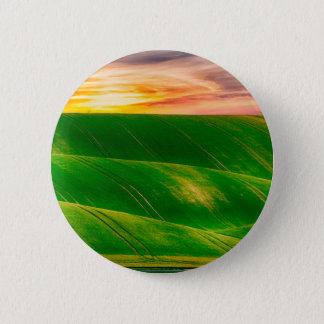 Hills countryside sky rural 6 cm round badge