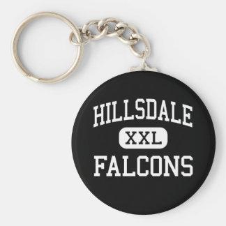 Hillsdale - Falcons - Middle - Jeromesville Ohio Key Chain