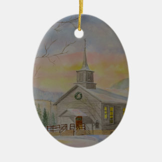 Hillsgrove Union Church Ceramic Oval Decoration