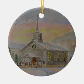 Hillsgrove Union Church Round Ceramic Decoration
