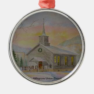 Hillsgrove Union Church Silver-Colored Round Decoration