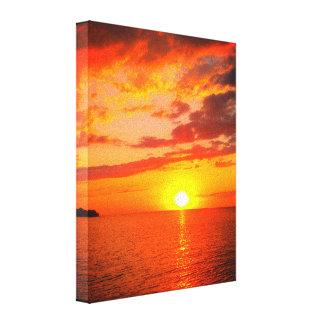 Hillside Beach Canvas Print