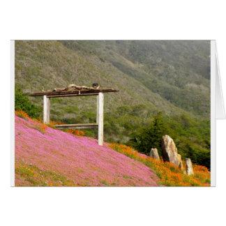 Hillside Flowers Greeting Card