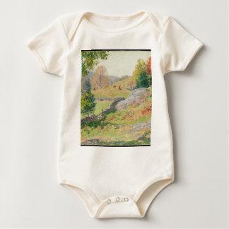 Hillside Pasture in September - Willard Metcalf Baby Bodysuit