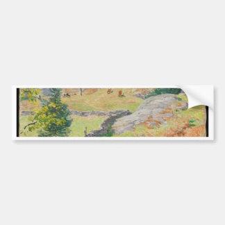 Hillside Pasture in September - Willard Metcalf Bumper Sticker