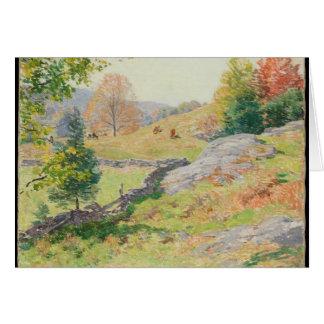 Hillside Pasture in September - Willard Metcalf Card