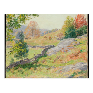 Hillside Pasture in September - Willard Metcalf Postcard