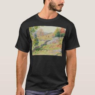 Hillside Pasture in September - Willard Metcalf T-Shirt