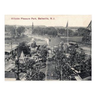 Hillside Pleasure Park, Trolley, Belleville NJ Postcard