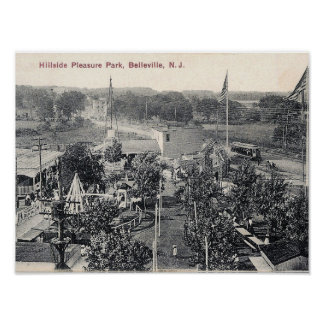 Hillside Pleasure Park, Trolley, Belleville NJ Poster