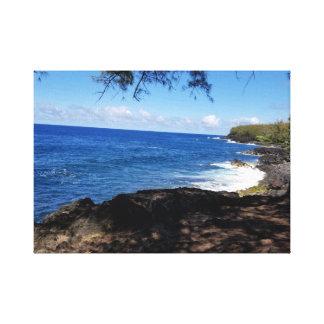 Hilo, Hawaii Blue Seascape Canvas Print