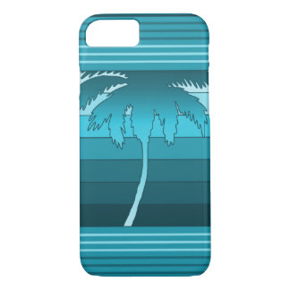 Hilo Hawaiian Palms Striped Teal iPhone 8/7 Case