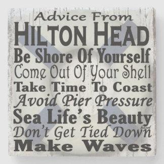 Hilton Head Beach Coaster. Stone Coaster