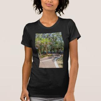 hilton head georgia beach and ocean with palm tre T-Shirt