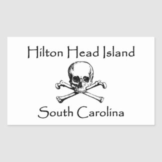 Hilton Head Island Jolly Roger Logo Rectangular Sticker