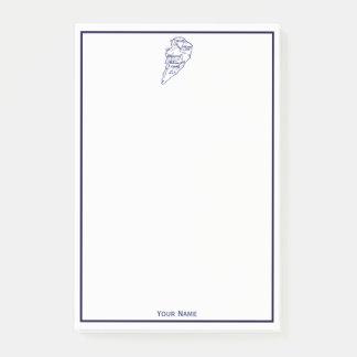 Hilton Head Island SC Vintage Map Navy Blue Post-it Notes