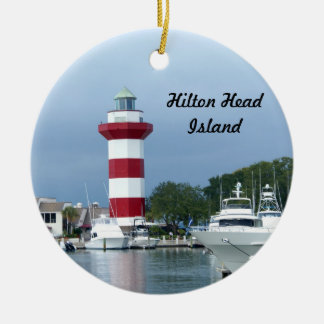 Hilton Head  Lighthouse Ceramic Ornament