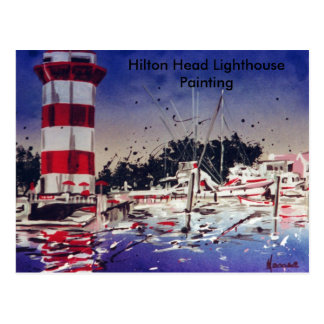 Hilton Head lighthouse painting card