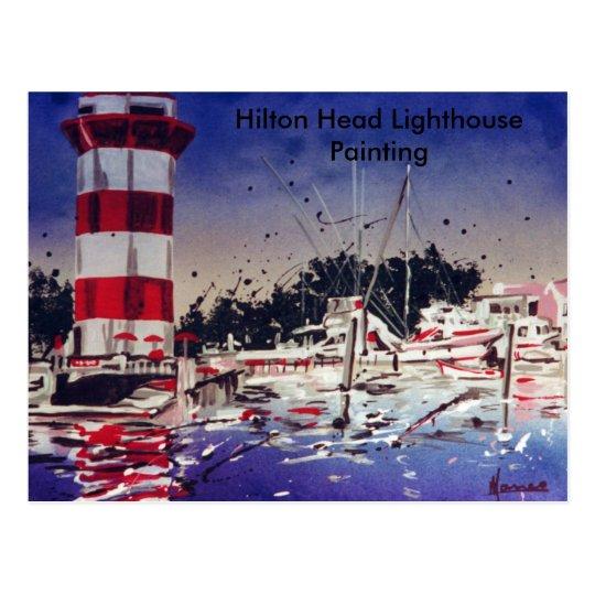 Hilton Head lighthouse painting card