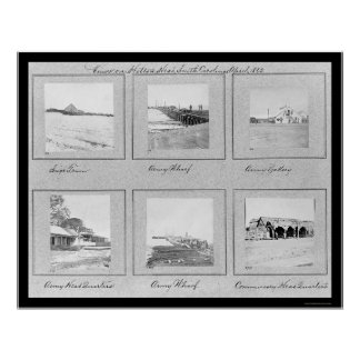 Hilton Head, SC Photo Vignettes 1862 Poster