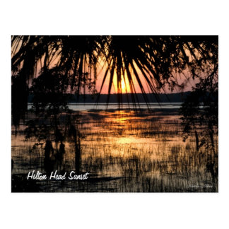 Hilton Head Sunset Postcard