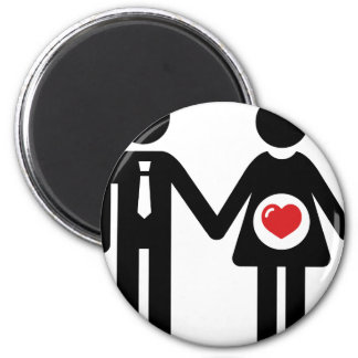Him and Her Pregnant Magnets