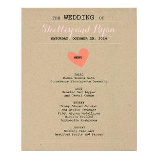 Him and Her Wedding Menu Card