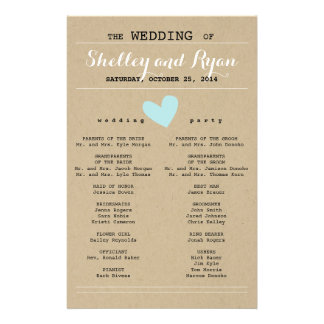Him and Her Wedding Program 14 Cm X 21.5 Cm Flyer